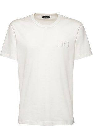 """Dolce & Gabbana T-shirt En Coton Brodé """"dg"""""""
