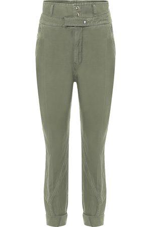 Frame Pantalon Twisted à taille haute en coton