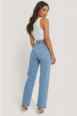 Levi's Femme Taille haute - Pantalon Droit Taille Haute Longueur Cheville - Blue