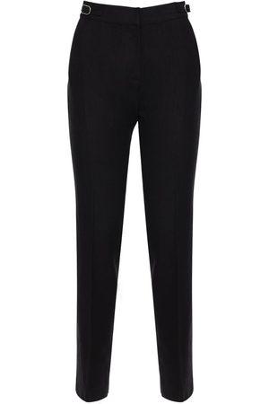 GABRIELA HEARST Pantalon Droit En Lin Texturé Taille Haute