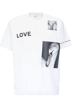 Burberry T-shirt En Jersey De Coton Imprimé