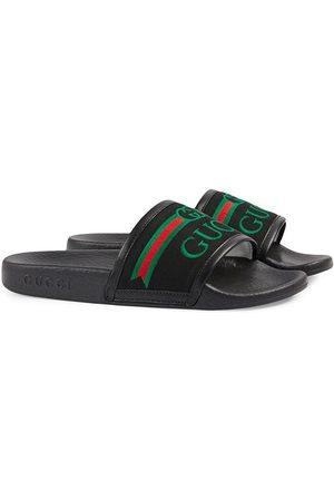 Gucci Claquettes à logo brodé