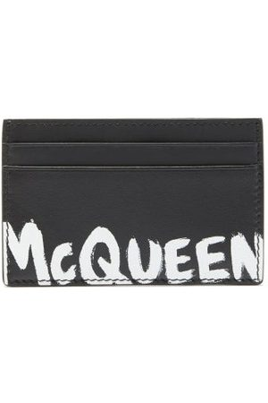 Alexander McQueen Porte-cartes en cuir à imprimé logo