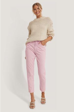 NA-KD Jean Mom Taille Haute - Pink