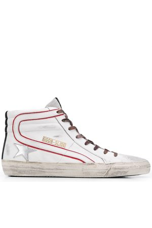 Golden Goose Star print high-top trainers