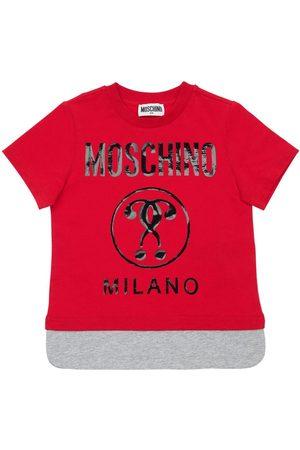Moschino T-shirt En Jersey De Coton Imprimé Logo
