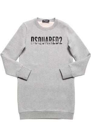 Dsquared2 Robe Pull En Coton Avec Logo En Sequins