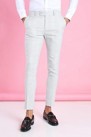 Boohoo Pantalon à carreaux habillé super skinny Homme