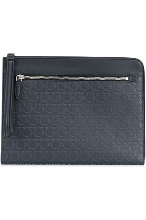 Salvatore Ferragamo Gancini-embossed clutch bag