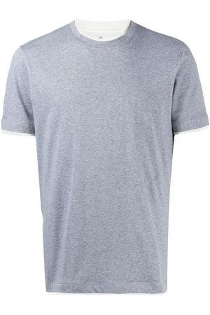 Brunello Cucinelli T-shirt à bordures contrastantes