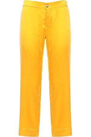 "ASCENO Pantalon De Pyjama Court En Soie ""the Antibes"""