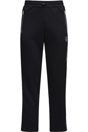 EA7 Pantalon De Survêtement En Coton Avec Logo