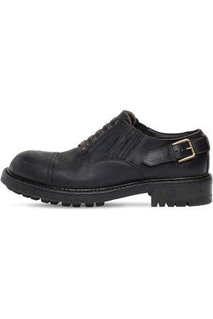 Dolce & Gabbana Chaussures À Lacets En Cuir Mat 40 Mm