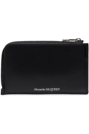 Alexander McQueen Logo-print zip-around wallet