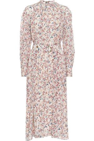 Chloé Robe midi en soie à fleurs