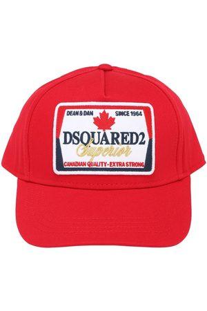 Dsquared2 Casquette En Gabardine Avec Patch Logo