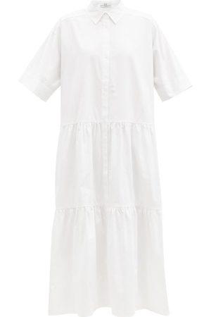 CO Robe-chemise en satinette de ton à volants