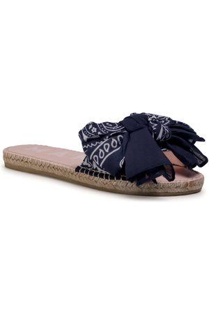 MANEBI Femme Sandales - Espadrilles - Sandals With Bow F 9.6 J0 Navy Bandana