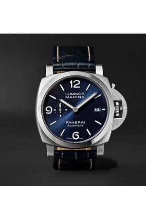 PANERAI Homme Montres - Luminor Marina Automatic 44mm Stainless Steel and Alligator Watch, Ref. No. PAM01313