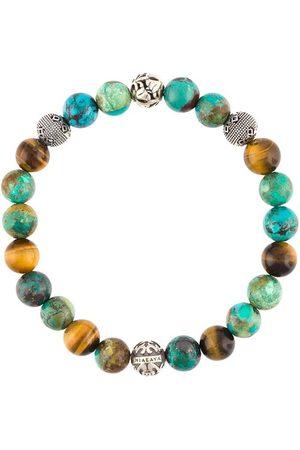 Nialaya Bracelet de perles à logo en relief