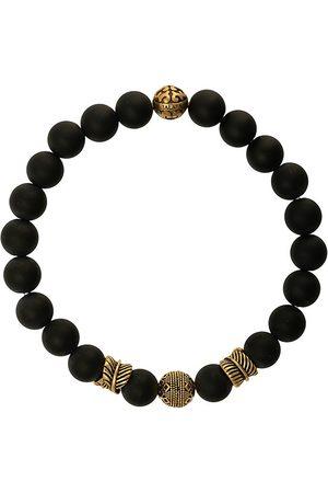 Nialaya Bracelet de perles à détails gravés