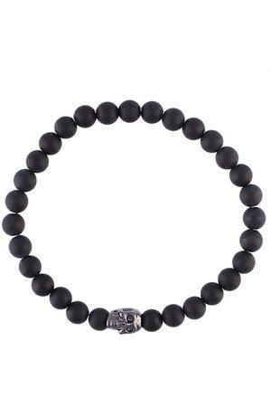 Nialaya Bracelet de perles et tête de mort