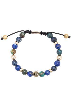 Nialaya Bracelet de perles lapis, dumortiérite et turquoise