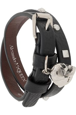 Alexander McQueen Bracelet multi-tours à breloque tête de mort