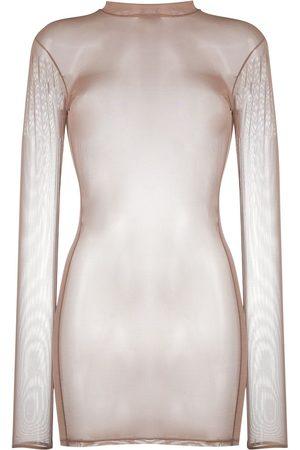 MAISON CLOSE Robe courte à effet de transparence