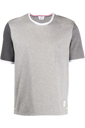 Thom Browne T-shirt à manches contrastantes