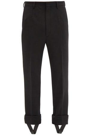 Prada Homme Pantalons - Pantalon en gabardine à sous-pieds amovibles