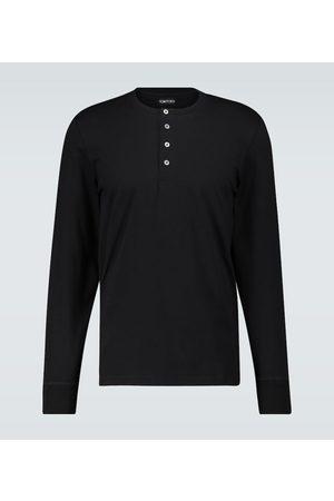 Tom Ford T-shirt Henley à manches longues
