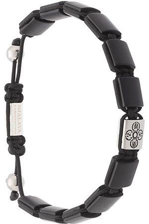 Nialaya Bracelet à perles en onyx