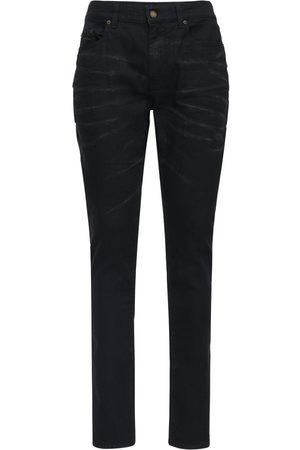 Saint Laurent Jean Skinny En Denim De Coton Stretch 16 Cm
