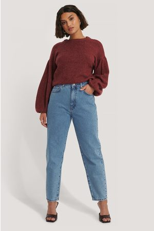 NA-KD Jean Mom Coupe Ample - Blue