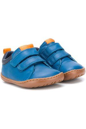 Camper Kids Chaussures de pré-marche en cuir à attaches scratch