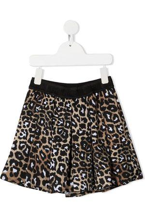 Msgm Short plissé à imprimé léopard