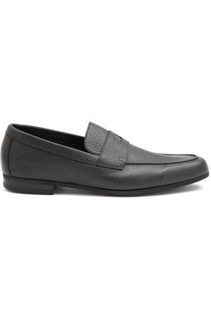 JOHN LOBB Homme Chaussures bateau - Mocassins en cuir texturé à picots Thorne
