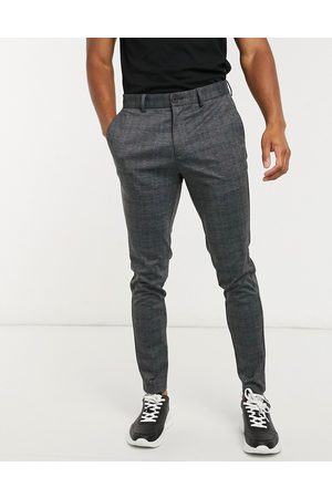Jack & Jones Intelligence - Pantalon à carreaux en jersey coupe slim