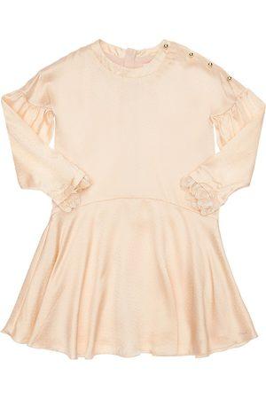 Chloé Robe De Soirée En Satin De Soie Embellie