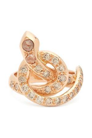 Ileana Makri Bague serpent en et diamants Berus
