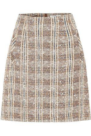 VERONICA BEARD Mini-jupe Roman en tweed de coton mélangé