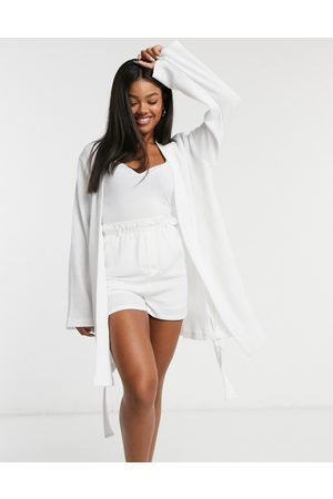 ASOS DESIGN Robe de chambre courte en tissu gaufré