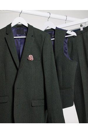 ASOS Wedding - Veste de costume super ajustée en laine mélangée en sergé