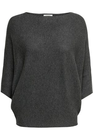 Only Manches Chauve-souris Pull En Maille Women Grey