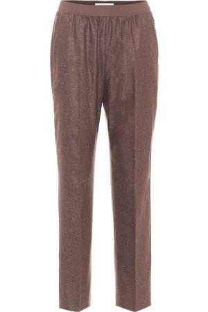 Agnona Pantalon de survêtement ample en mohair et laine