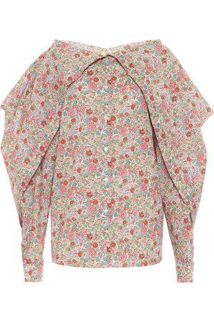 Y / PROJECT Chemise en coton à fleurs