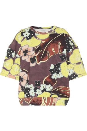 DRIES VAN NOTEN T-shirt en coton à fleurs