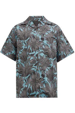 Prada Homme Chemises - Chemise en coton à imprimé fleuri et col cubain