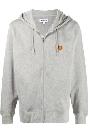 Kenzo Zip-up tiger patch hoodie
